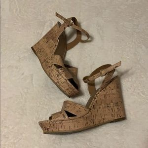 Abound Cork Wedges size 9
